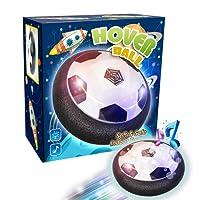 Hover Ball Calcio Konomio Pallone da Calcio Air Power Soccer Toy Disc LED Musica Giocattolo Football Divertente Regalo per Bambini 3 4 5 6+ Gioco in Casa outdoor , Musica Può Essere Spegni【Versione aggiornata】