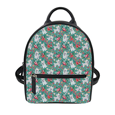 chic Coloranimal Casual Women Girls PU Leather Lightweight Shoulder Backpack Daypack