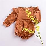 voqoomkl Twin Newborn Clothes Orange Baby Onesie