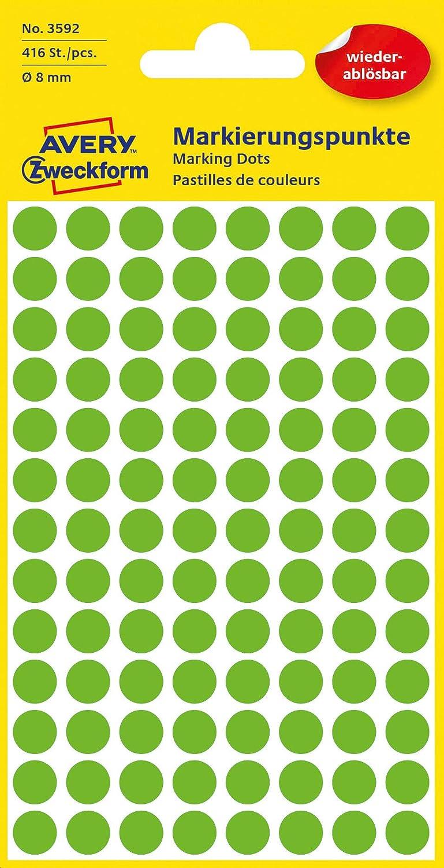 s 104 pieza s Avery 3594 C/írculo Rosa 416pieza Rosa, C/írculo, Papel, 1,8 cm, 416 pieza s - Etiqueta autoadhesiva