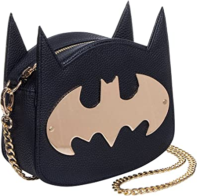 Batman bat comic dc handmade fabric coin change purse zipper pouch