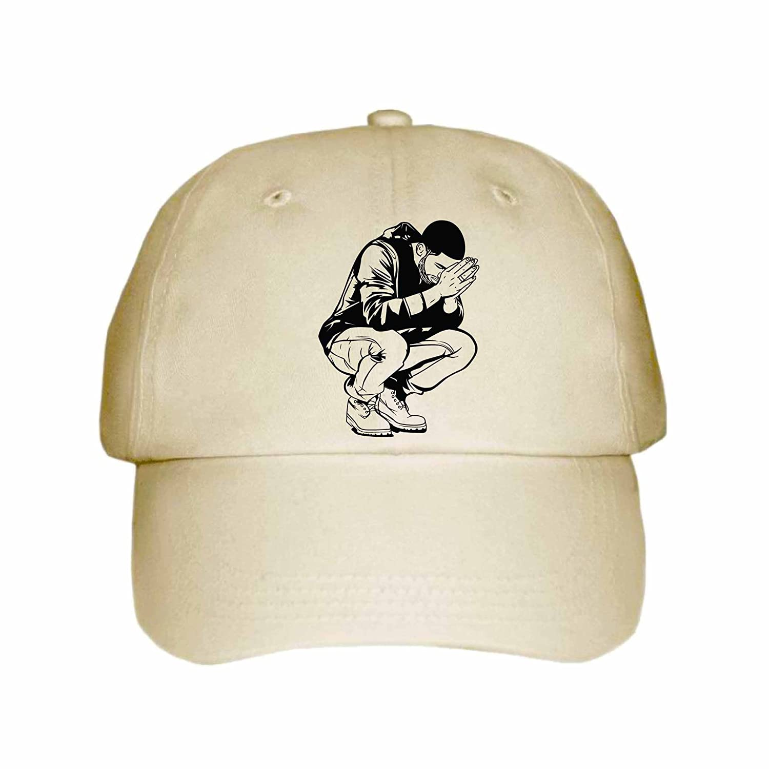 Drake 6 God Cap/Hat (Unisex) (White) Babes & Gents