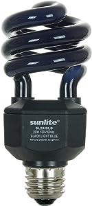 Sunlite 05439-SU CFL, Halloween, Spiral Blacklight, 20 Watts, 120 Volts, Medium Base (E26), 463nm, UL Listed, 1 Pack, Black Light Bulb (BLB)