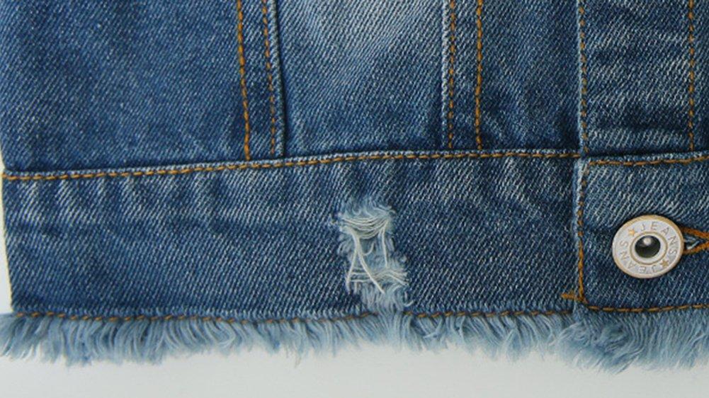 Chaqueta Chaleco Vaquero Para Niña De Sin Manga Chaleco Jeans Denim  Chaqueta Azul 150CM  Amazon.es  Deportes y aire libre 795d32ce6e22