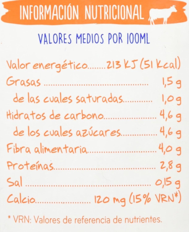Central Lechera Asturiana - Leche Con Fibra UHT Semidesnatada - Botella 1 L: Amazon.es: Alimentación y bebidas