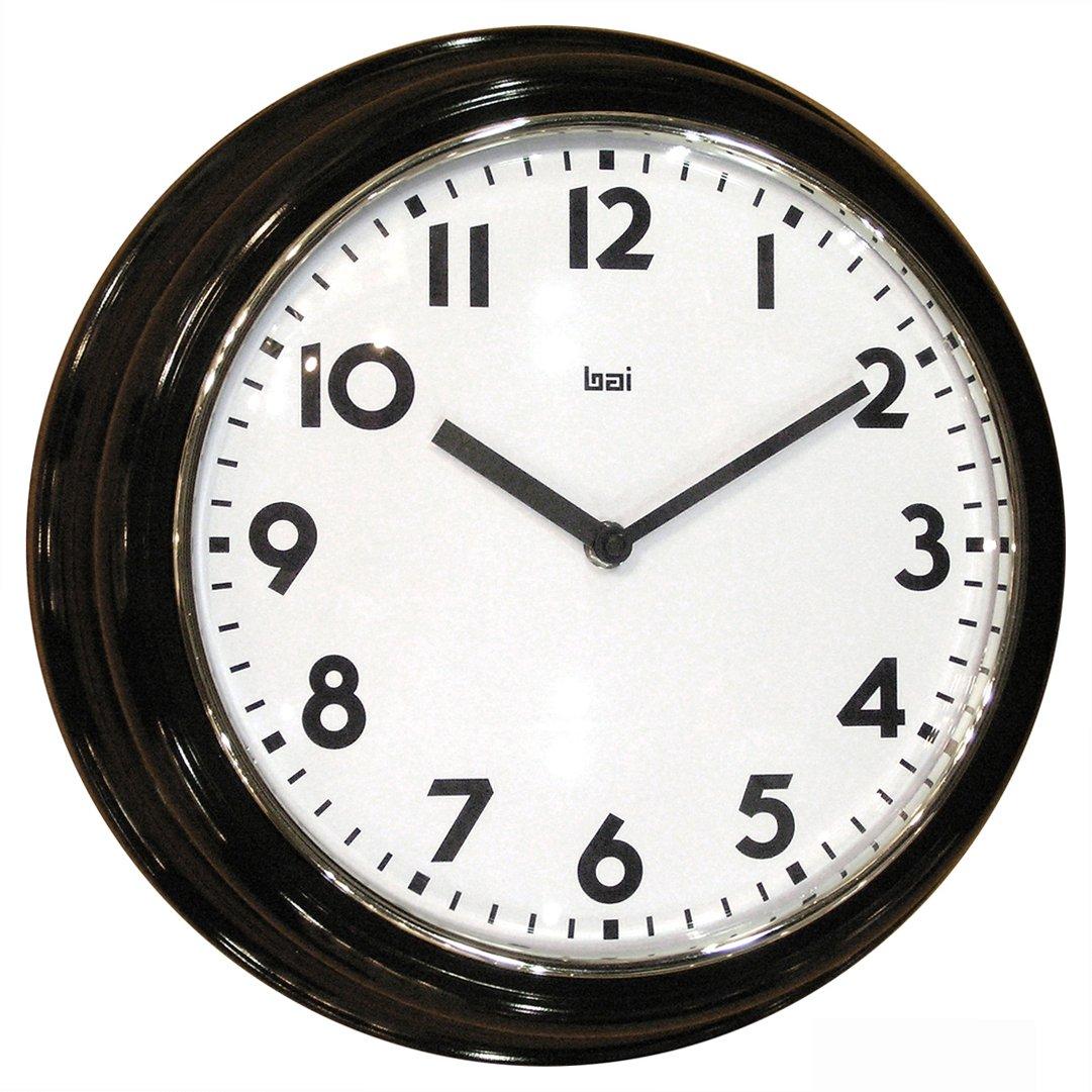 Amazon bai school wall clock black home kitchen amipublicfo Gallery