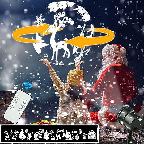 Proiettore Luci Di Natale Amazon.Proiettore Luci Di Natale 3d Stereo Rotante Xmas Led Decorazione
