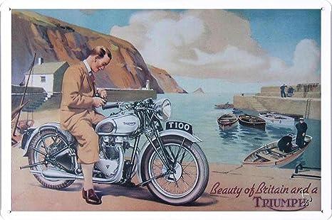 Amazon.com: Belleza de gran bretaña un Triumph Motocicletas ...