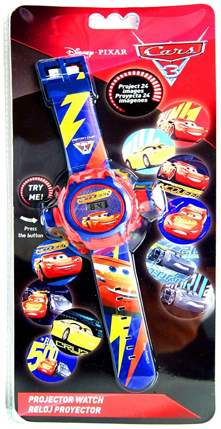Pixar Cars. Reloj con proyector, Reloj para niños, con Licencia ...