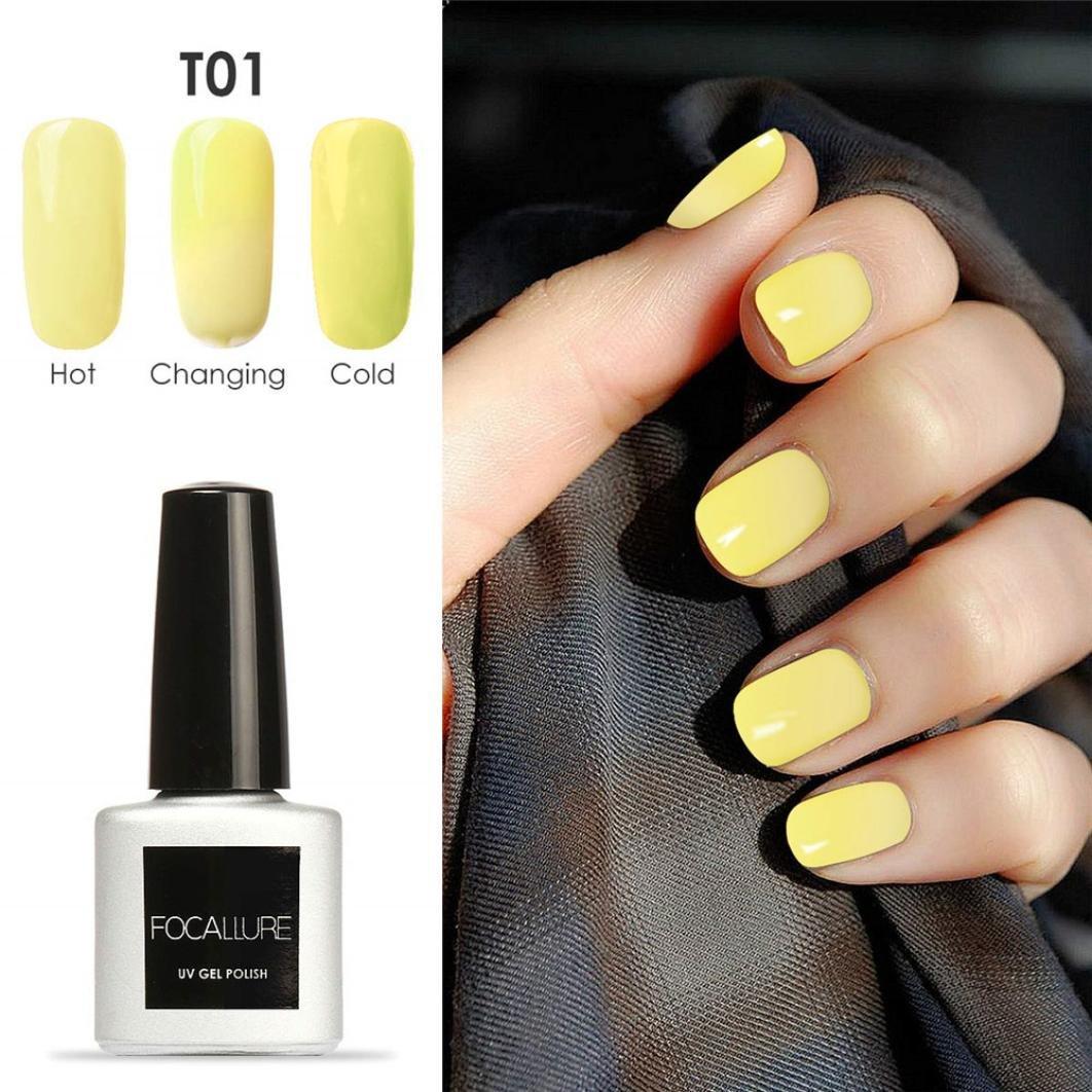 SMILEQ 7mL Temperature Color Changing Gel Nail Polish UV LED Polish Fashion Nail Art DIY (I)