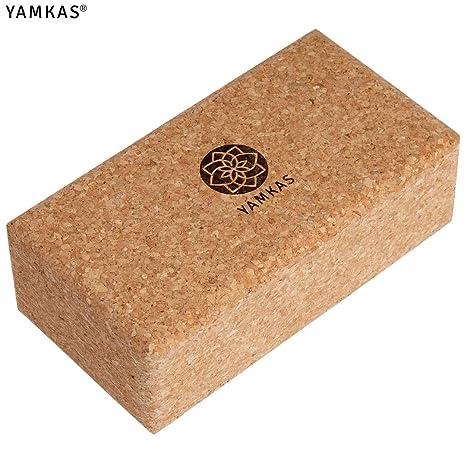 Yamkas Yoga Bloque Corcho | Bloques Corcho Natural de Portugal | Yoga Block