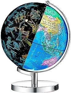 LJFYMX Niños del Mundo Globe 25CM HD con Estudiantes de Chino Ligero e inglés Que enseñan Suministros Ornamentos Globe Globo del Mundo Interactivo: Amazon.es: Juguetes y juegos