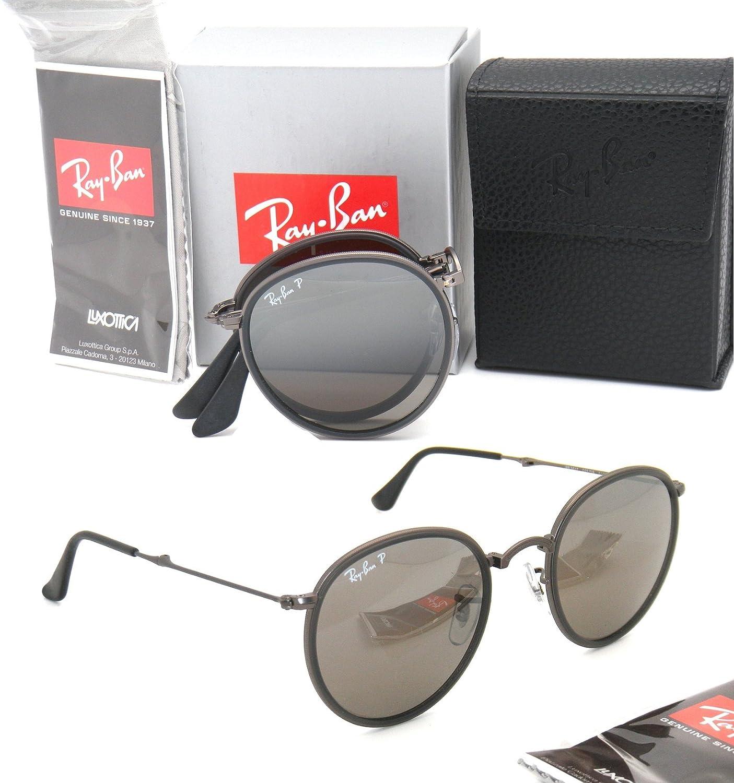 6676ffa71c Amazon.com  Folding Ray-Ban RB 3517 029 N8 51mm Matte Gunmetal with Grey  Polarized Mirror  Clothing
