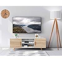 COMIFORT Mueble de TV - Mesa de Salón Moderno, Estilo Nórdico, Puertas con Tirador y Patas de Haya 100%, Muy Resistente…