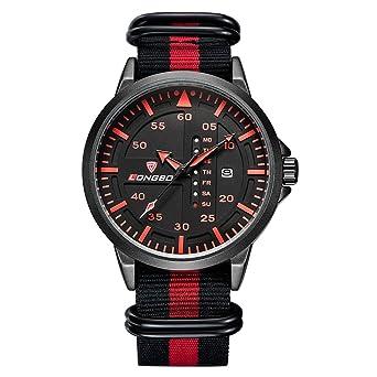 b5bc02777d Rockyu ブランド 人気 メンズ 男性 時計 オシャレ 防水 サファイアガラス 海外ブランド レッド メンズ腕時計