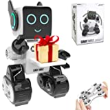 RC Robot Toy, Interactive and Programmable Toy Robot with Built-in Coin Bank, Smart Educational Robot Sound and Touch…