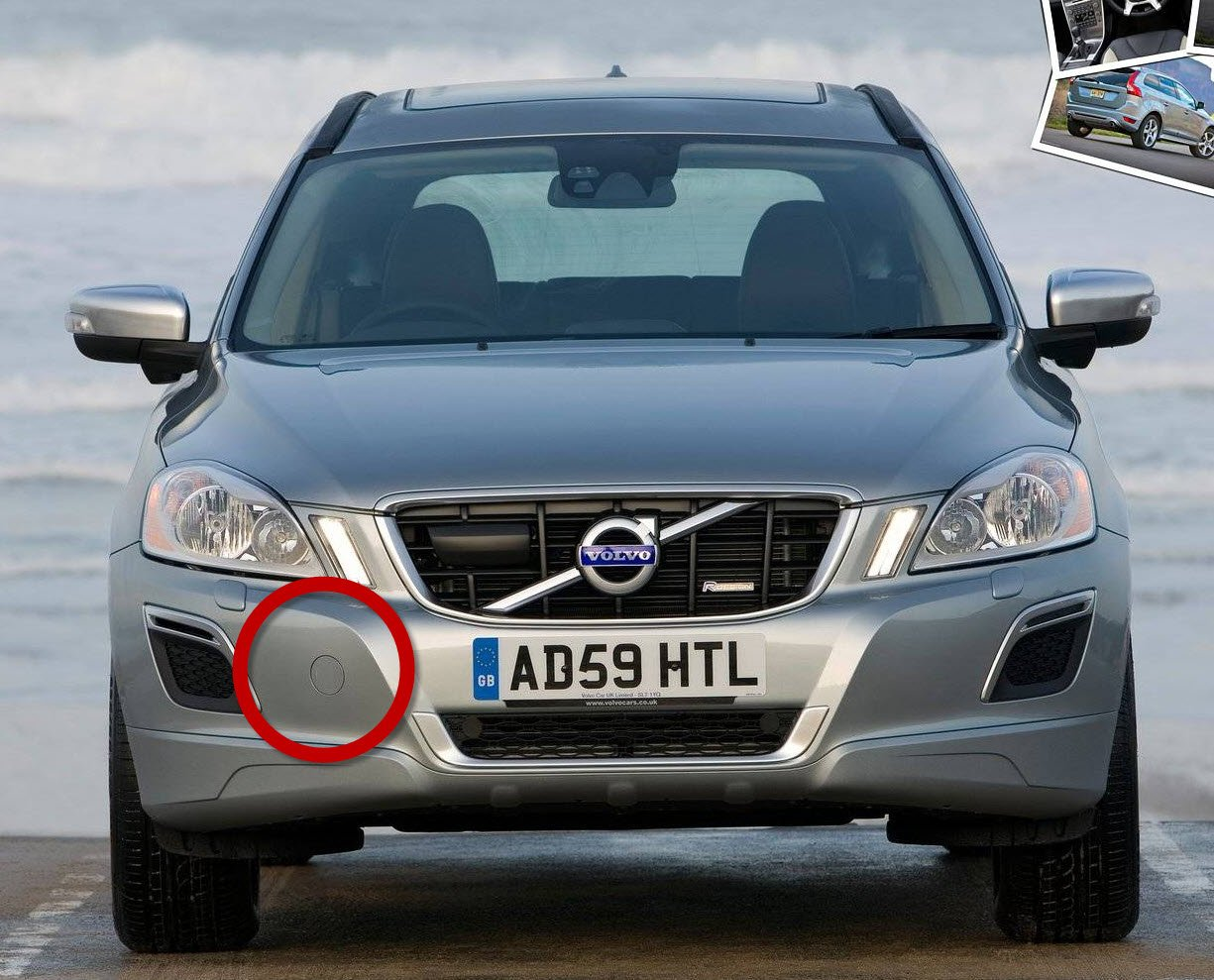 Front Bumper Tow Hook Cover Genuine Volvo 39802519