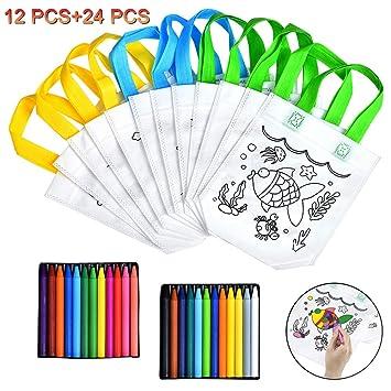 Queta Bolsas para Colorear Bricolaje, 12 Pcs Bolsos de ...