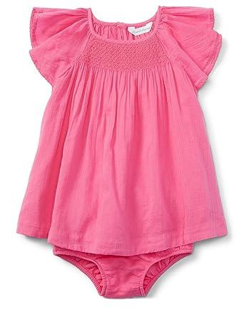 539ead9af7 Ralph Lauren Baby Girls' Smocked Cotton Dress & Bloomer