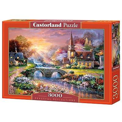CASTORLAND Peaceful Reflections 3000 pcs Puzzle - Rompecabezas (Puzzle Rompecabezas, Hada, Niños y Adultos, Niño/niña, 9 año(s), Interior): Juguetes y juegos