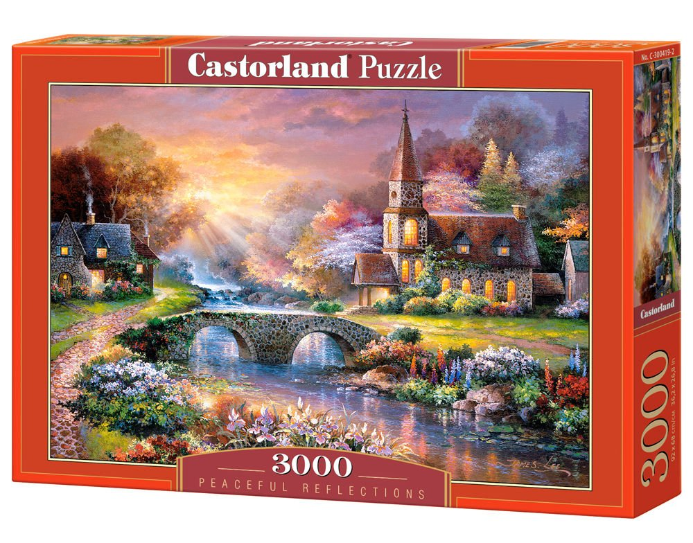 60 off castorland peaceful reflections puzzle 3000 piece. Black Bedroom Furniture Sets. Home Design Ideas