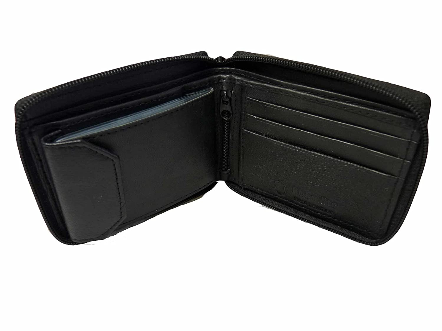 SALE Mens Mans Zip Around Wallet Real leather Soft Leather Zipped Wallets R184