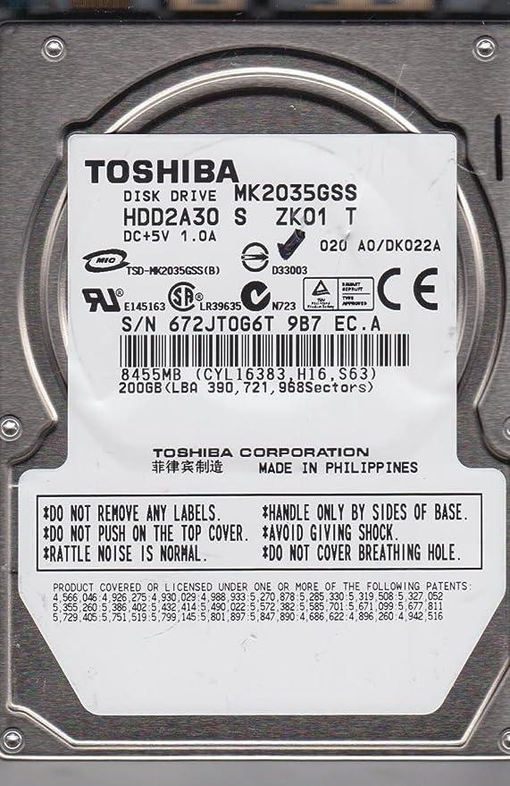 Amazoncom Toshiba MK2035GSS 200GB Serial ATA 150 4200
