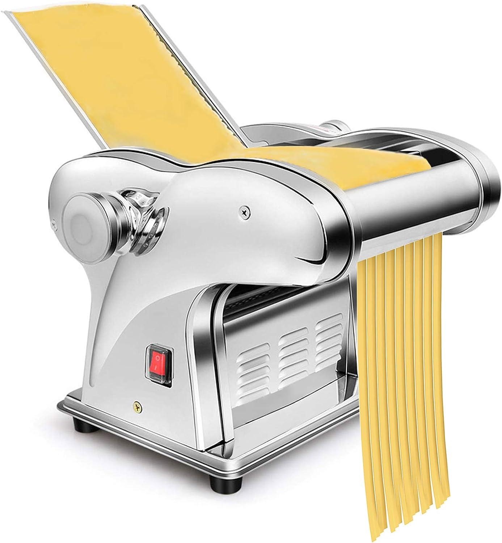 Máquina Automática para Fabricar Pasta, Máquina Eléctrica para Fideos para Crear Deliciosos Fideos De Espagueti con Tallarines De Pasta Fresca| con 6 posiciones de espesor | 135W
