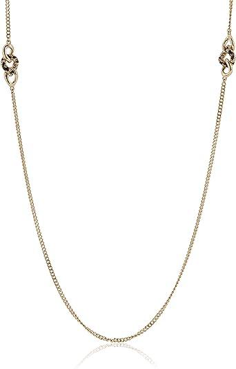 Guess ubn21596 – Collar para mujer acero inoxidable oro circonitas color blanco 90 cm: Guess: Amazon.es: Joyería