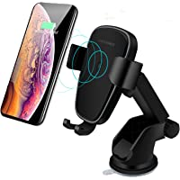 Wireless Car Charger Mount, LIONAL Qi Fast Wireless Charger Gravity Car Mount Air Vent Phone Holder Fast Charging…