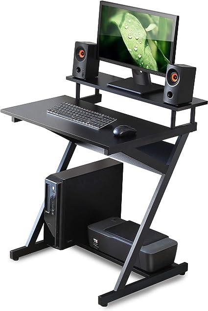FITUEYES Pequeño Escritorio del Ordenador con Monitor e Impresora ...
