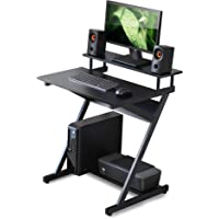 FITUEYES Computer Desk Mobile Workstation with Monitor Shelf Study Writing Desk for Small Spaces, CD307001WB