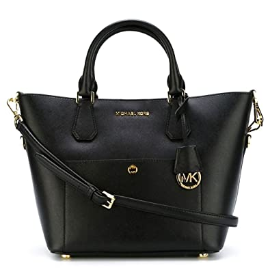 130d5cec49 MICHAEL Michael Kors Greenwich Black and Dusty Rose Large Grab Tote one  size Black/Dusty