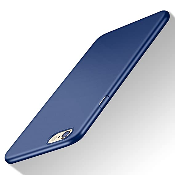 new styles 3a920 3c338 iPhone 6S Plus Case, TORRAS Slim Fit Shell Hard Plastic Full Protective  Anti-Scratch Resistant Cover Case for iPhone 6 Plus/iPhone 6S Plus- Navy  Blue