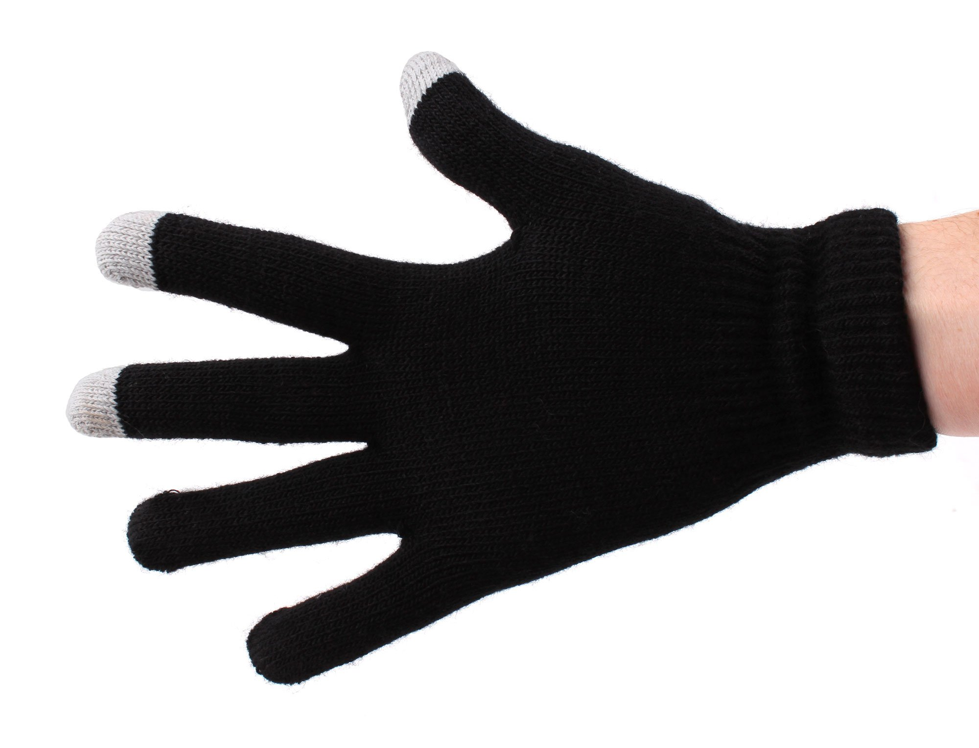DURAGADGET Unisex Size Medium Black Touch Screen Gloves For Haier Pad Maxi 10.1'', Haier Mini 8'', Haier Mini 7'', I-Onik TP7-1000DC, I-Onik TP7-1200QC, I-Onik TP785-12000C, I-Onik TP8-1500DC by DURAGADGET (Image #2)