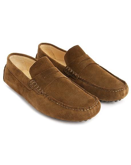 M, Studio - para Hombre - Mocasines con Solapa Roger está Fabricado en Piel de Velour para Hombre, Color marrón, Talla 39: Amazon.es: Zapatos y complementos