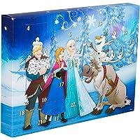 Sambro DFR15-6382 Adventskalender Disney Frozen mit Schreibwaren, kleinen Spielzeugen und Stickern, für Kinder ab 3 Jahre, bunt