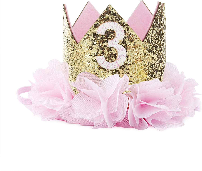 COUXILY Princesa beb/é Flor Corona Diadema cumplea/ños Accesorios para el Cabello un