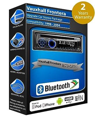 Vauxhall Frontera Radio de coche reproductor de CD USB y AUX Clarion cz301e manos libres Bluetooth: Amazon.es: Coche y moto