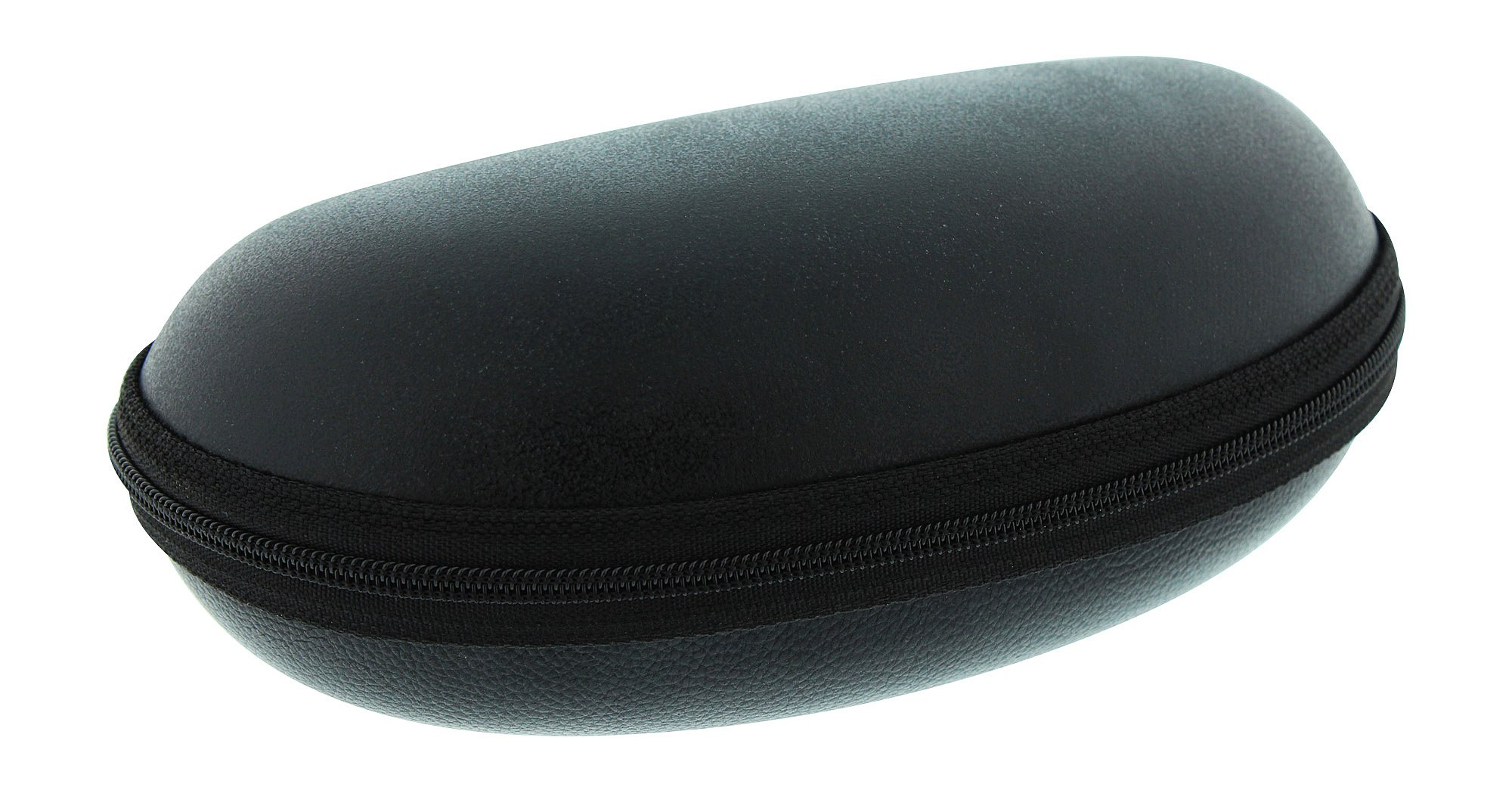 Extra Large Zip Up Eyeglass Case For Men & Women, Fits 2 Pairs Of Glasses, Black