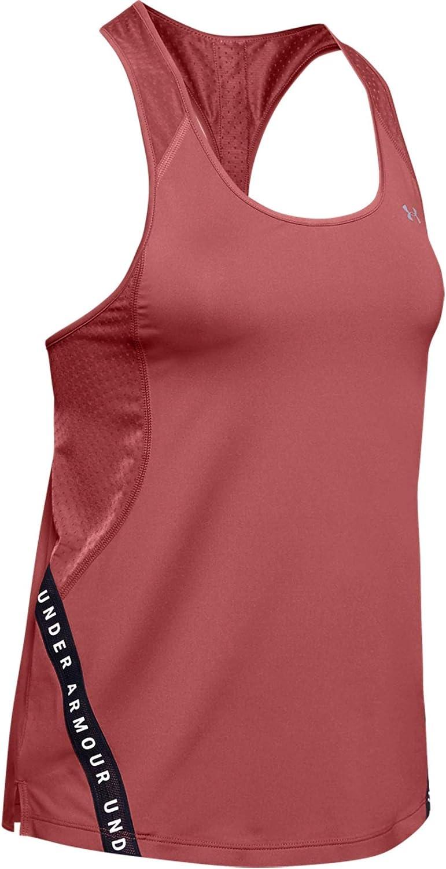Rosa colore Canotta da allenamento da donna Under Armour Wordmark Tape