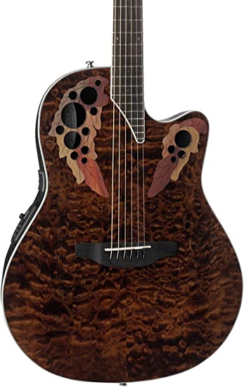Amazon.com: Ovation Celebrity Elite Plus Quilted Maple Top ... : quilted maple acoustic guitar - Adamdwight.com