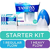 Tampax Starter Kit Menstrual Cup Up To 12 Hours Of Comfort-fit Protection With Wipes