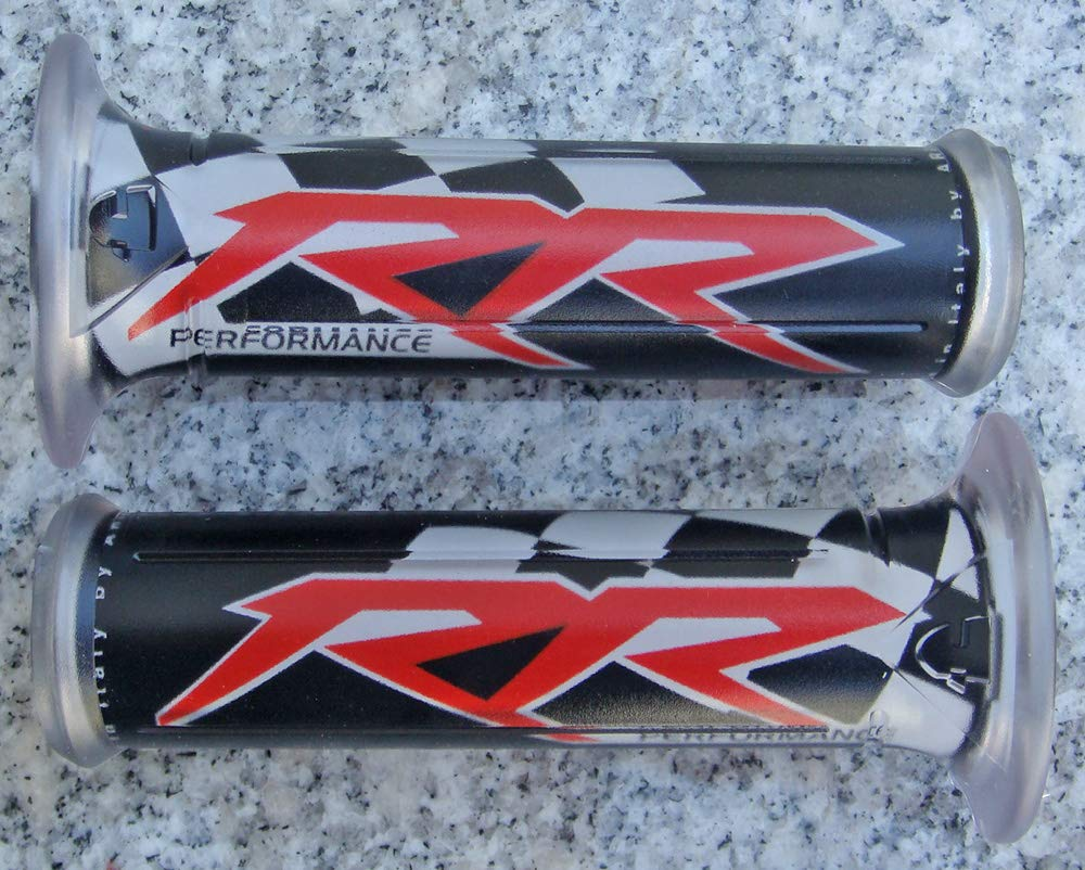 """UNIVERSAL MOTORCYCLE RUBBER GEL HAND GRIPS FOR 7//8/"""" HANDLEBAR SPORTS BIKES CR480"""