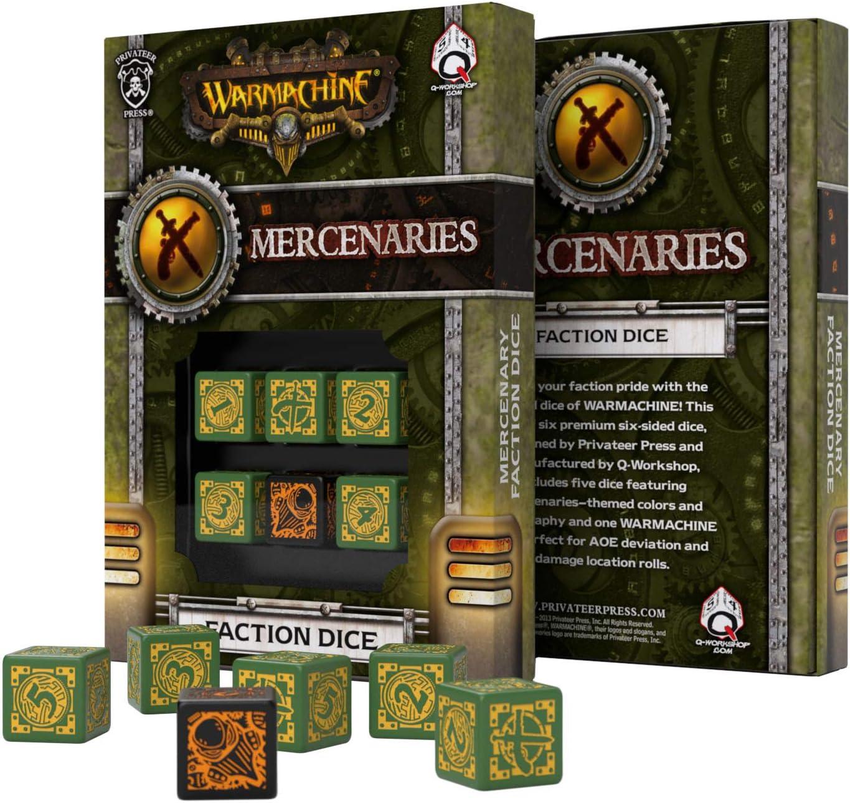Qworkshop QworkshopSPWA30 Lot de 6 d/és de Machine /à Guerre Mercenaries Faction D6 Multicolore