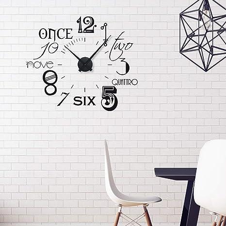 Grazdesign Wandtattoo Uhr Mit Uhrwerk Wanduhr Fur Wohnzimmer Zahlen International Modern 67x57cm Farbe Schwarz Uhrwerk Schwarz