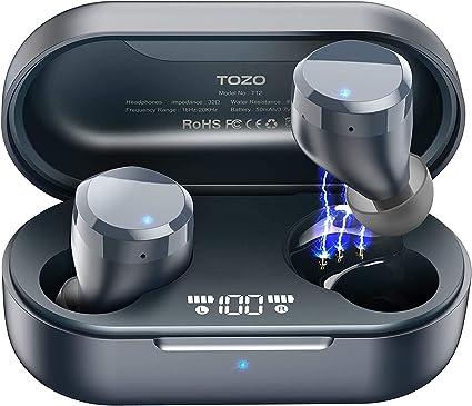 Amazon.com: TOZO T12 Wireless Earbuds Bluetooth Headphones Premium
