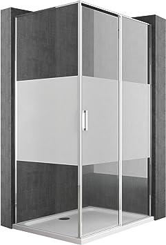 Ducha Pared 80 x 120 Mampara con ducha Taza de aluminio marco de ...