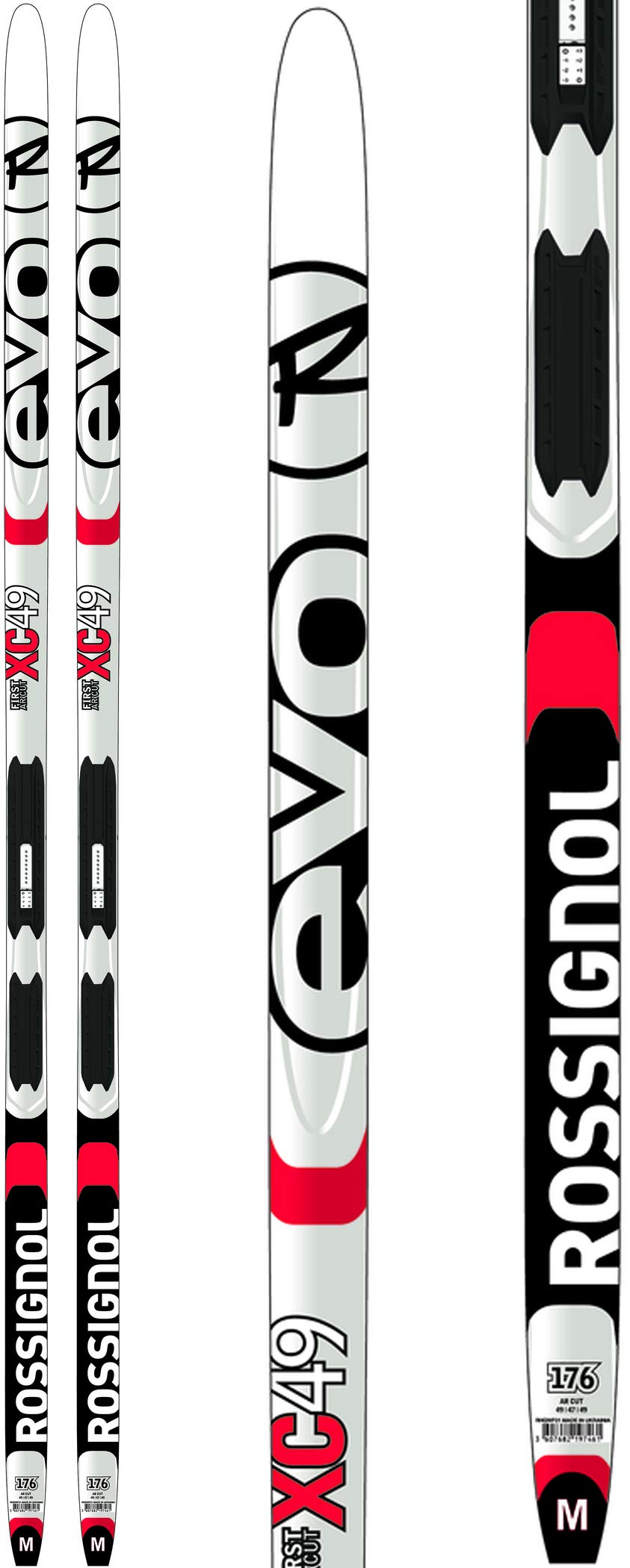 Rossignol Evo XC 49 IFP Mens XC Skis 176 w/Tour Step-in Bindings XC Ski Package Mens Sz 176cm by Rossignol