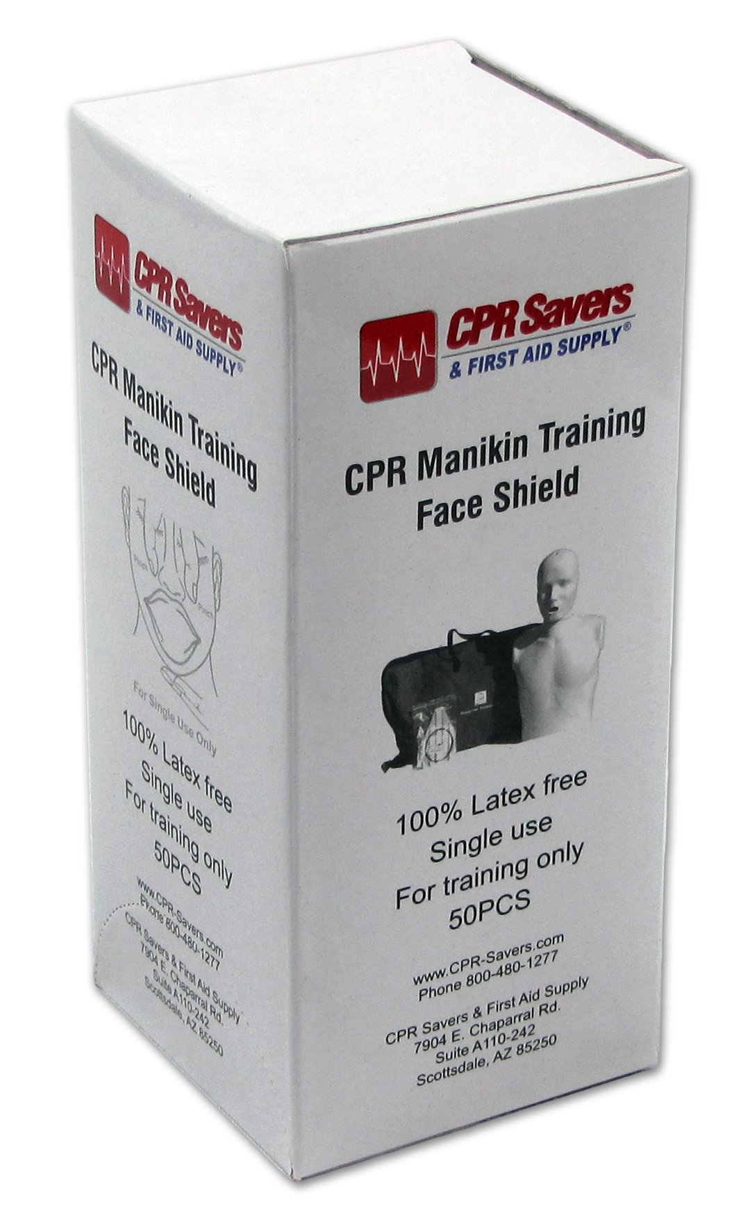 CPR Savers & First Aid Supply 3150A Practice Manikin Face Shields